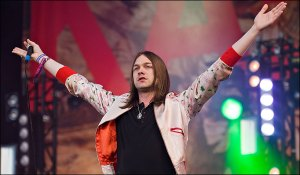 Spring in his step ... Tom Meighan of Kasabian